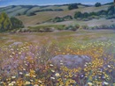 "Butterfly Nectar Field, oil on canvas, 22""x30"""