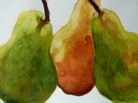 Mixed Pears: Watercolor, 5