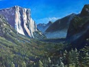 "Yosemite Valley, oil on canvas, 30""x40"""