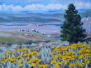 Mono Basin View: oil on canvas, 7x5""