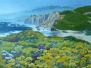 Pescadero Beach #2: oil on canvas, 28x22""