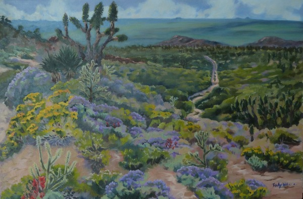 Mojave National Preserve - Oak Springs Road, oil on canvas, 30