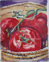 Pretty Tomatoes: watercolor on paper, 4x7""